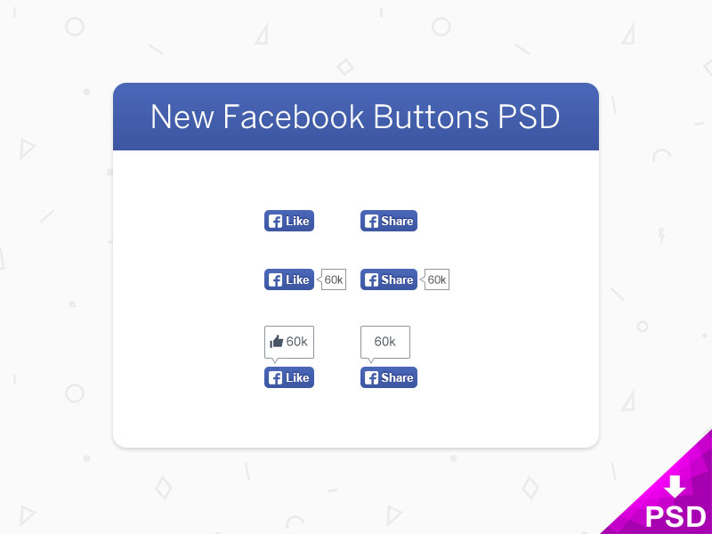 New-Facebook-Buttons