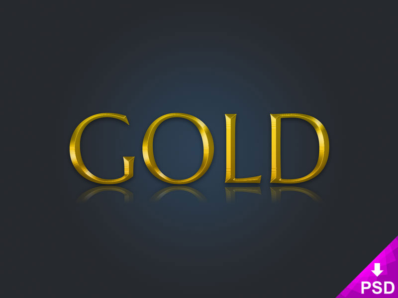 Gold Text Layer Style