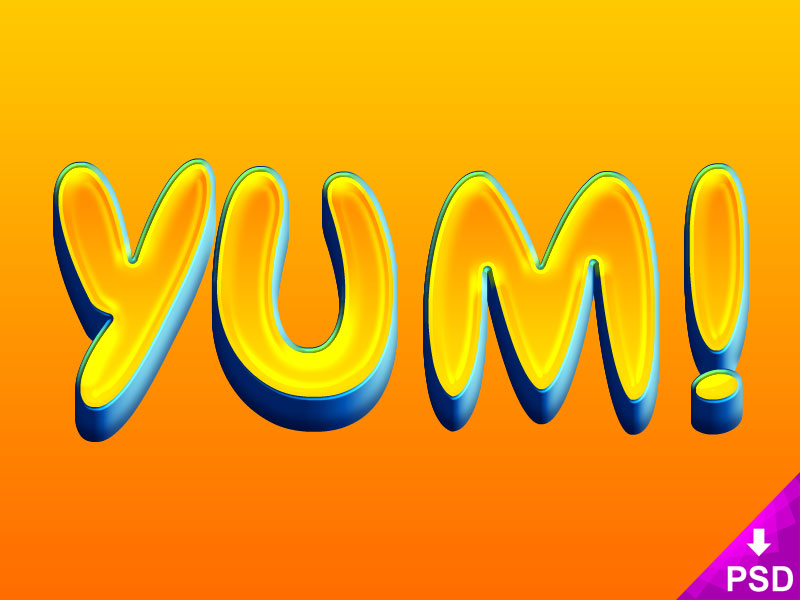 Yum! Text Layer Style