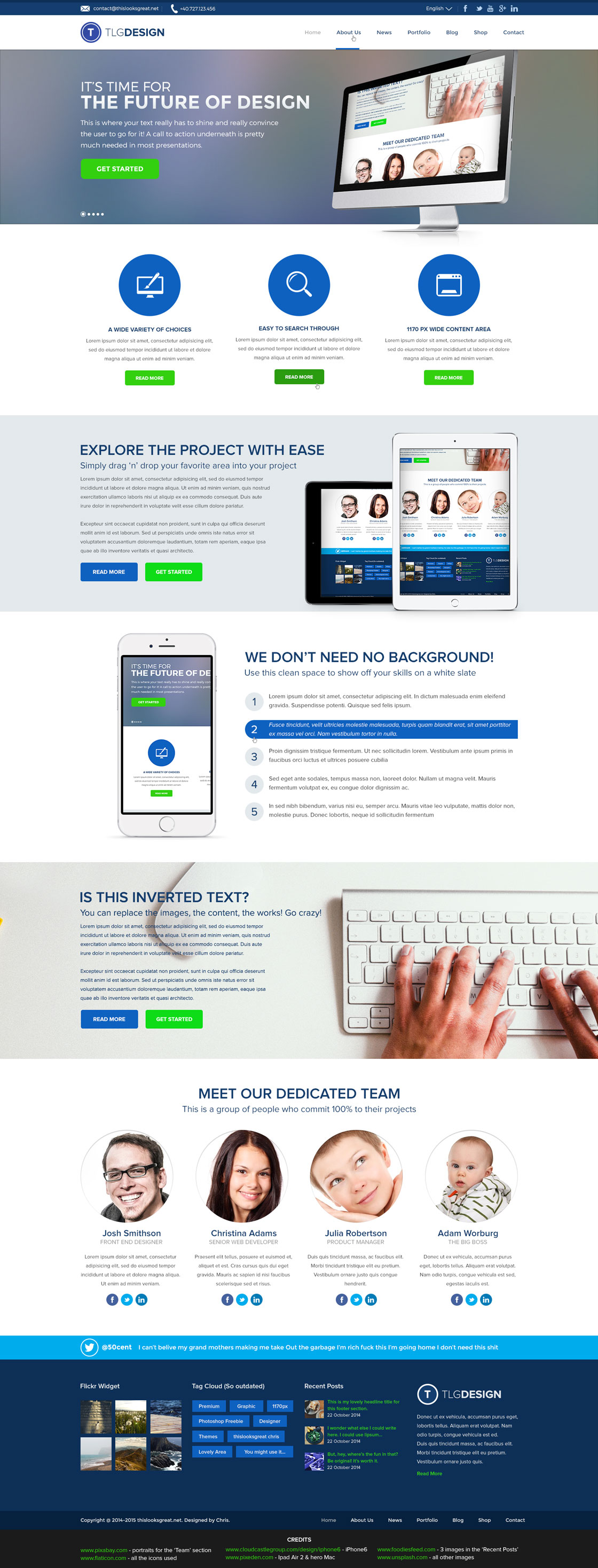 Design Agency Homepage Layout