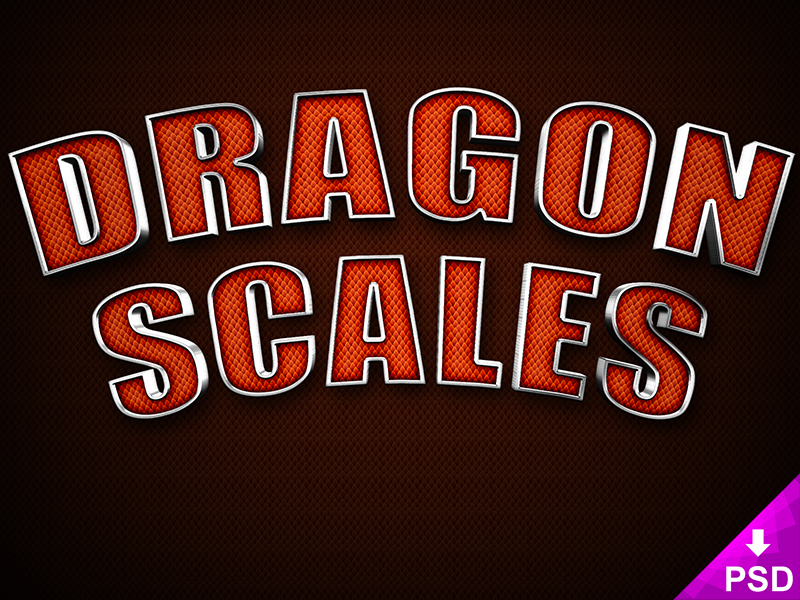 Dragon Scales Text Style