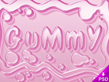 Pink Gummy Text Style