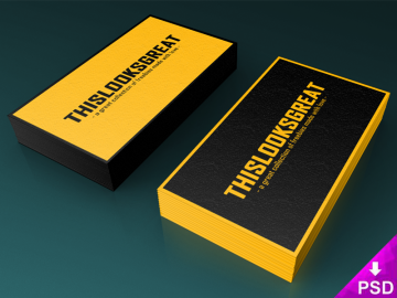 Business Card Stacks Mock-up