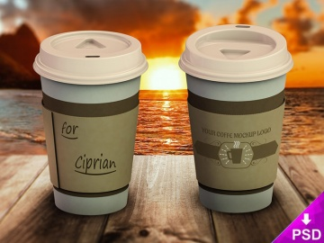Coffee Cup Logo Mock-up