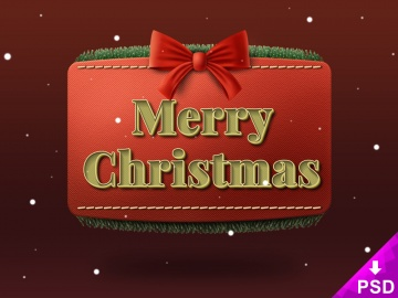 Christmas Ribbon Text Style