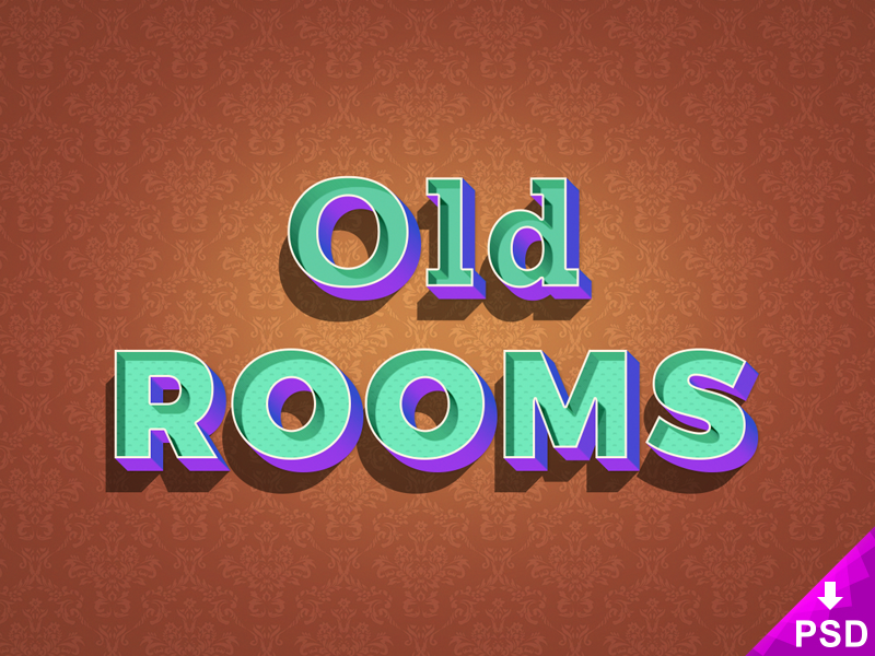 Old Rooms Text Effect