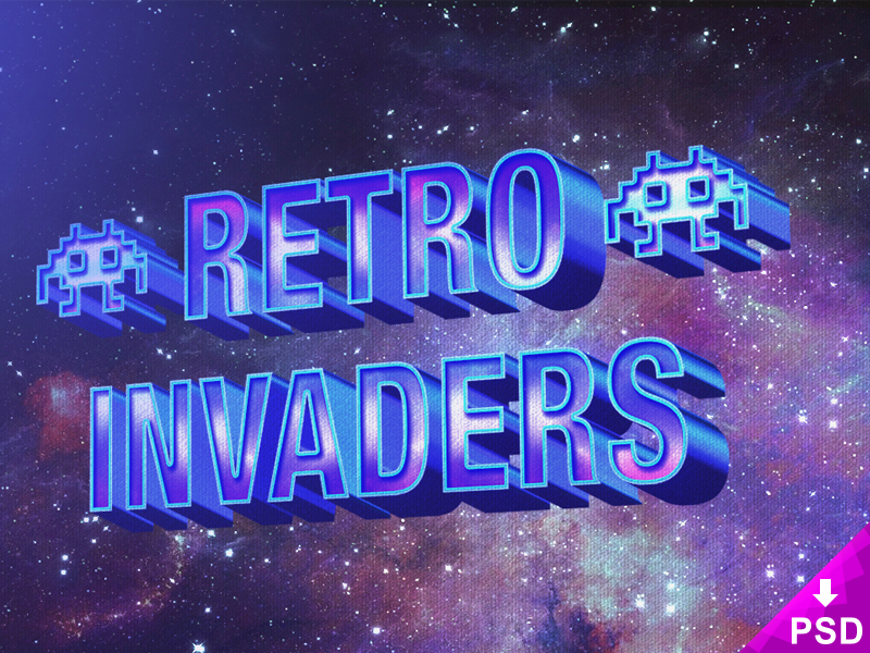 3D Retro Layer Text Style