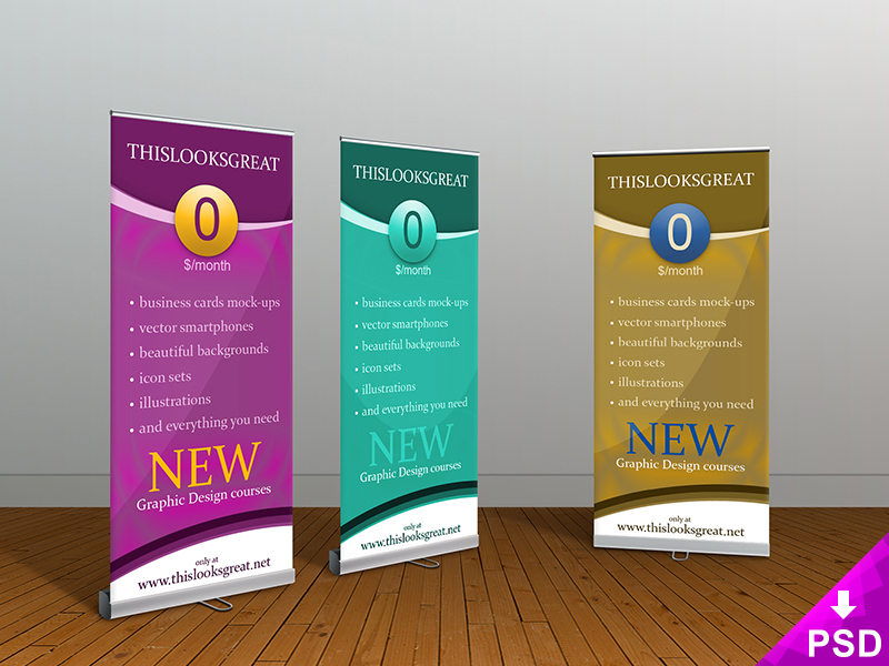 Rollup Banners Mockup