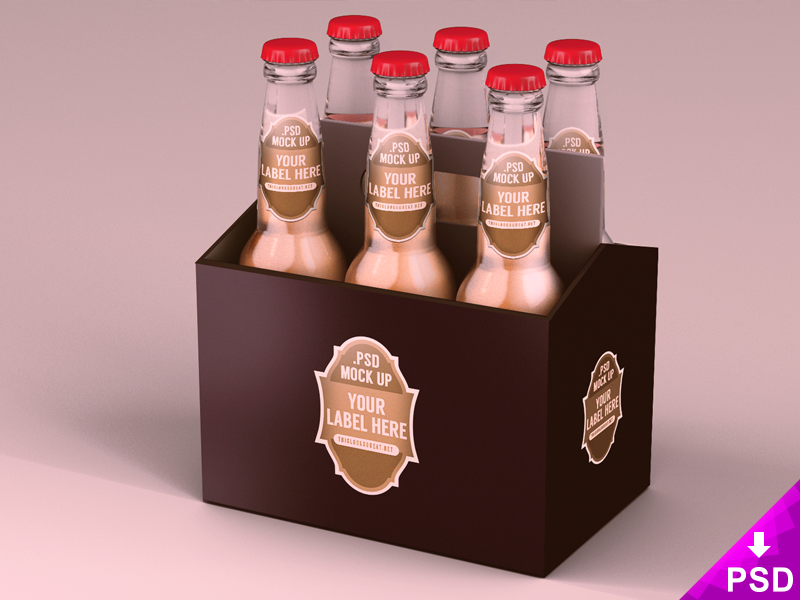 Six Pack Beer Packaging Mockup