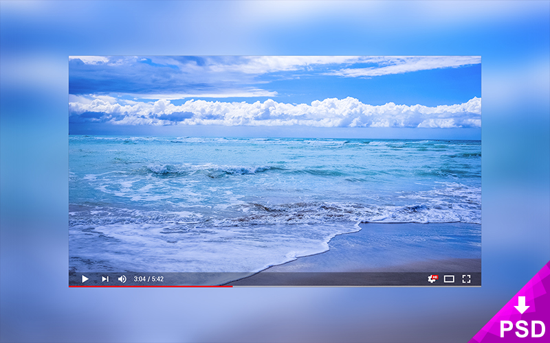 Modern Youtube Player Mockup