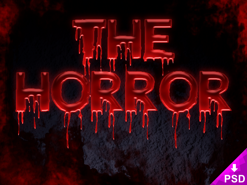 Horror Text Effect