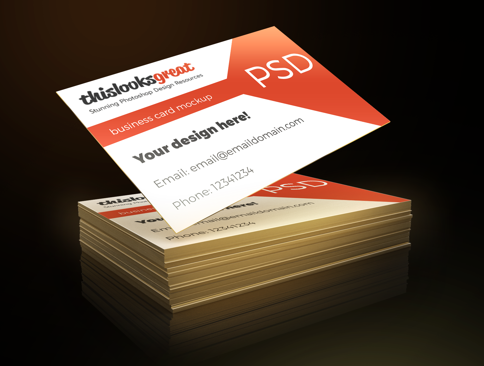 Business Card Freebie Mockup .PSD