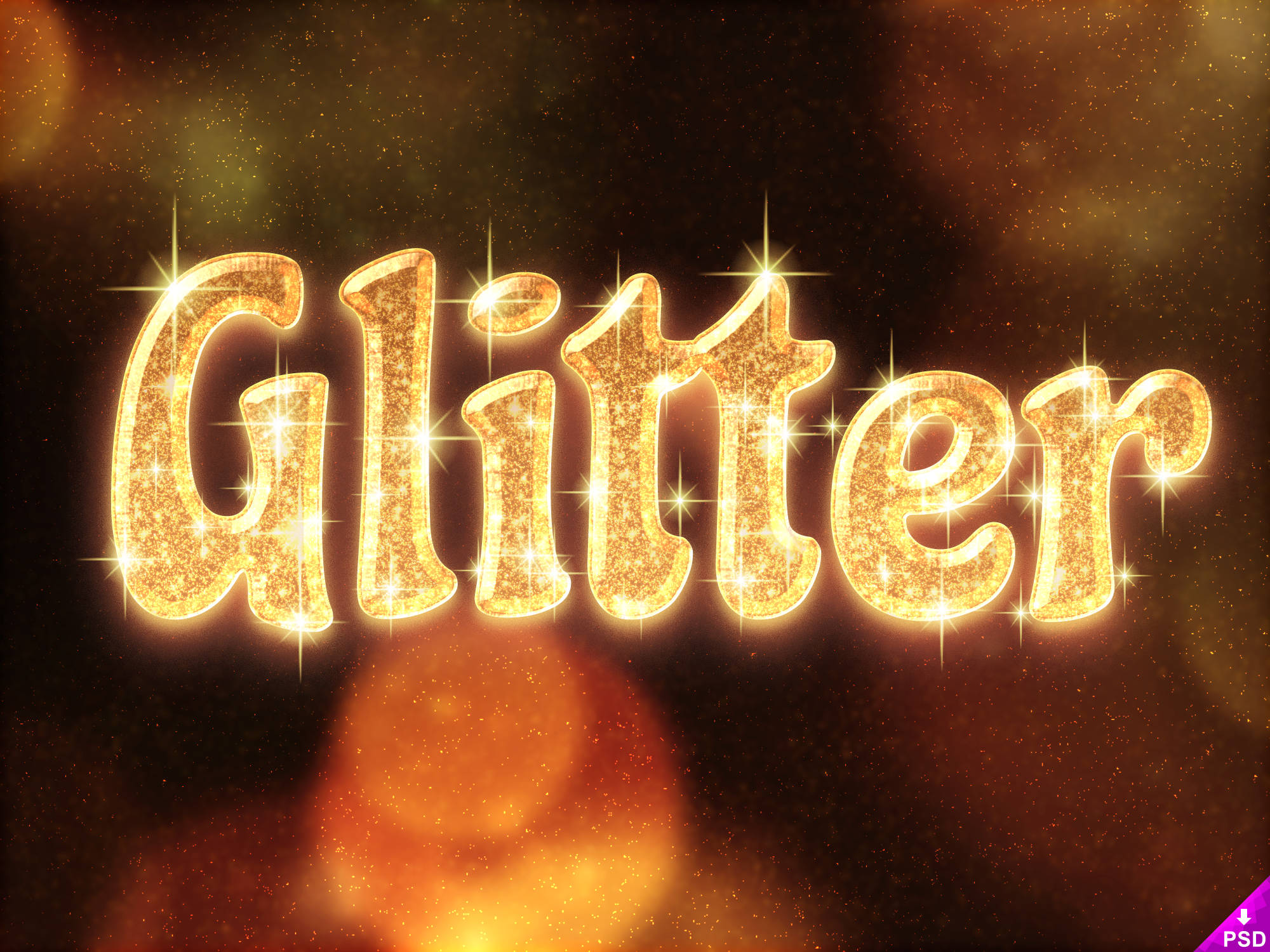 Glitter Text Style